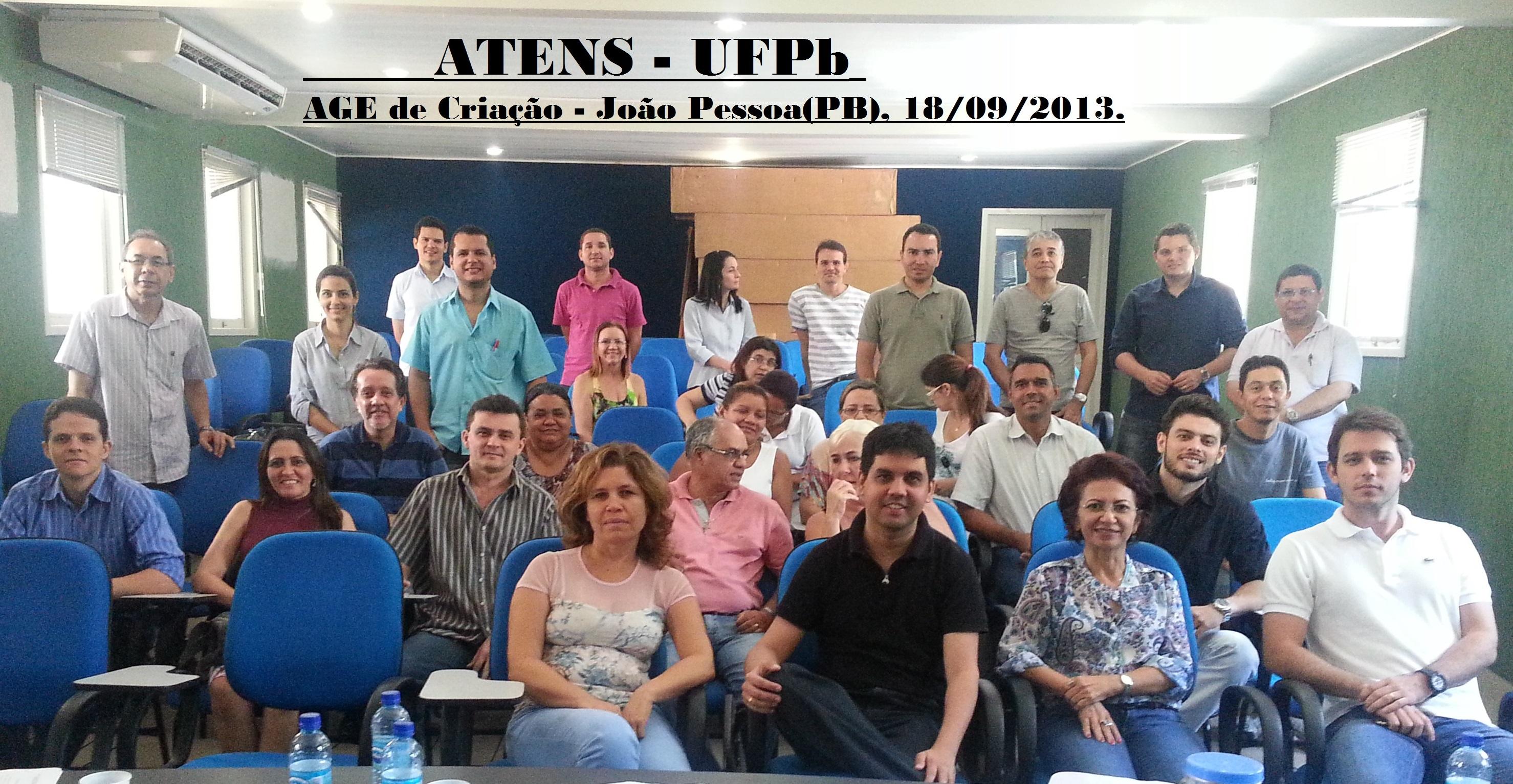 ATENS UFPB – Assembleia de criação em 18:09:2013