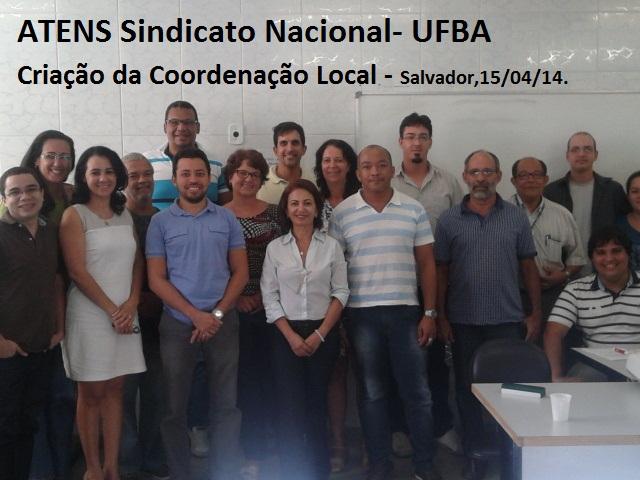 Coordenação local da UFBA – criada em 15:04:2014